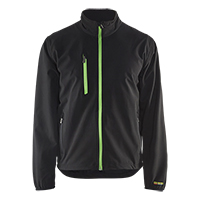 Light softshell jack - 4-way stretch en ritsen in contrastkleur