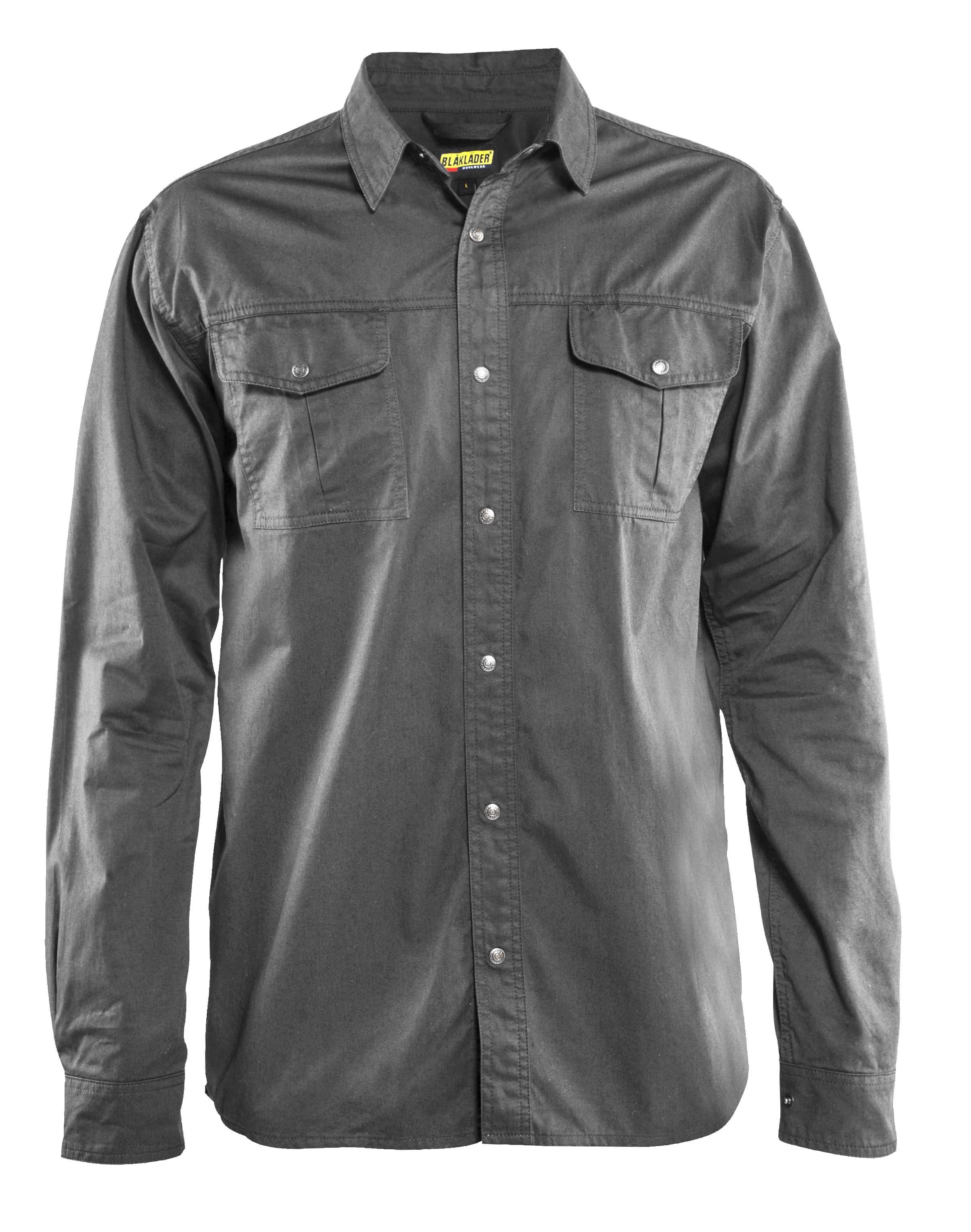 Blaklader 320811359400XL Twill Women Shirt Grey X-Large